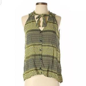 Aqua sleeveless blouse